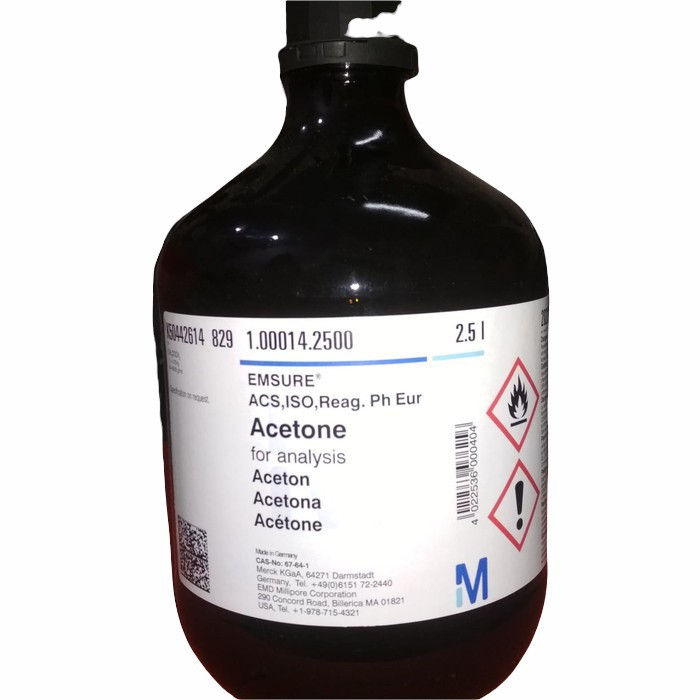 100014.2500ACETONE FOR ANALYSIS EMSURE ACS,ISO,REAG. PH EUR2.5 L