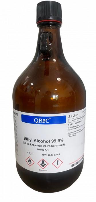 QREC Ethanol, Ethyl alcohol 99.9% AR grade 2.5L มีสต๊อกพร้อมส่ง
