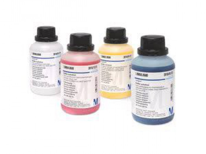 199050  Buffer solution (boric acid/potassium chloride/sodium hydroxide) colour coded: blue, traceable to NIST and PTB pH 10.00 (25°C) Certipur®